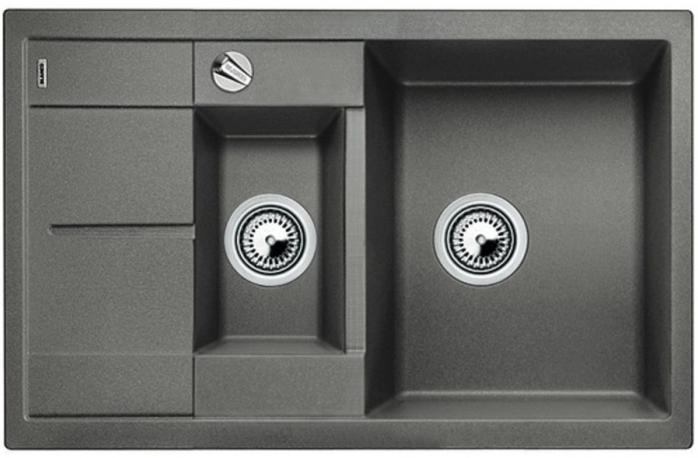 Мойка Blanco Metra 6S Compact Silgranit PuraDur II алюметаллик + КА