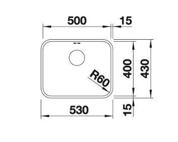 Мойка Blanco Supra 500-U нержавеющая сталь полированная