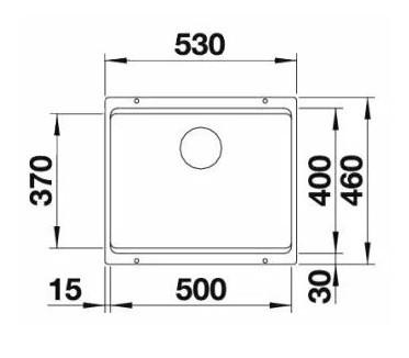 Мойка Blanco Etagon 500-U Silgranit PuraDur белый с отв.арм. InFino®