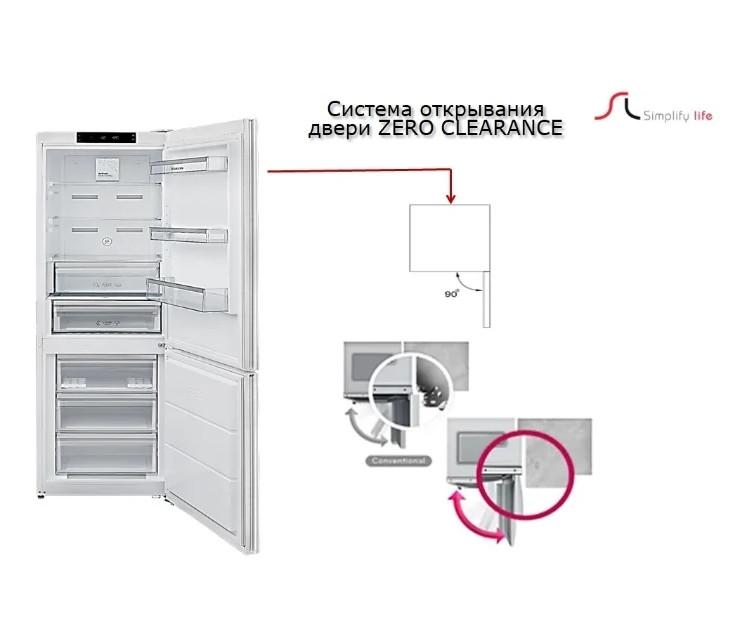 Холодильник Schaub Lorenz SLU S335X4E с дисплеем мраморно-бежевый