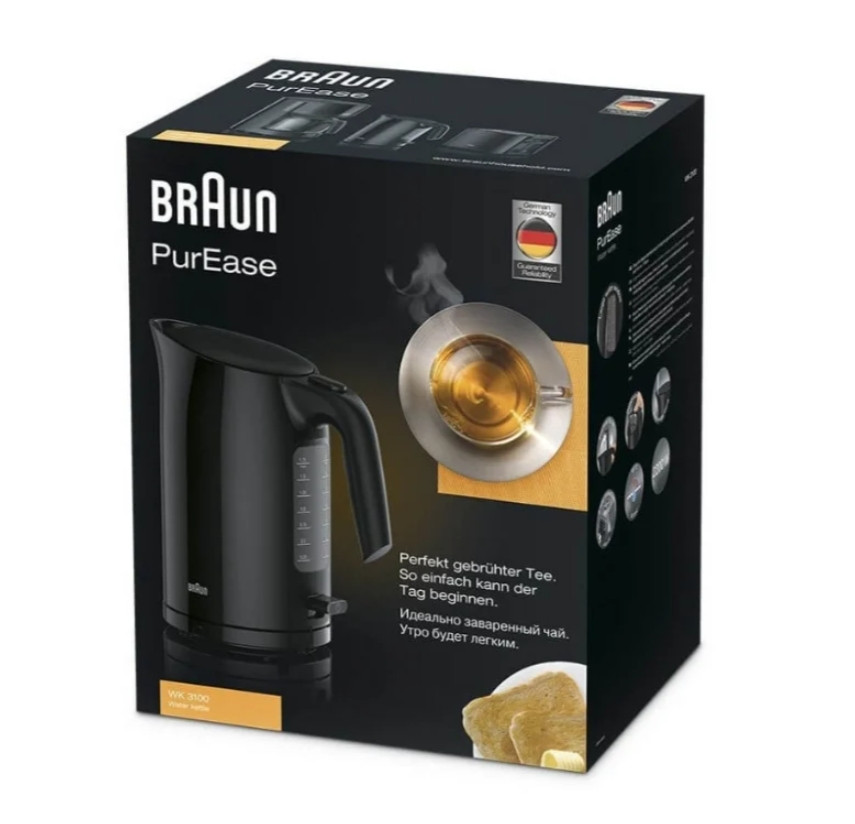 Чайник Braun WK 3100, черный