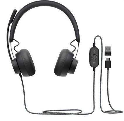 Наушники с микрофоном Logitech Zone Wired MS Teams Headset Stereo (981-000870)
