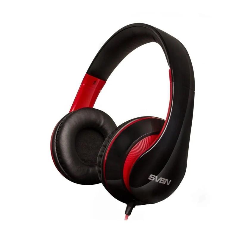 Наушники с микрофоном SVEN AP-940MV 3pin/4pin black/red