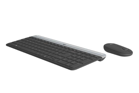 Беспроводной комплект клавиатура+мышь Logitech MK470 Graphite тонкопрофильный (920-009206)