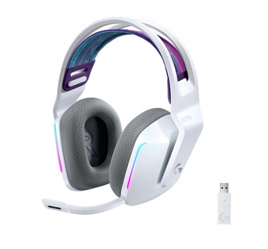Игровые беспроводные наушники с микрофоном Logitech G733 LIGHTSPEED White (981-000883)