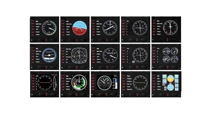 Джойстик Logitech G Pro Flight Instrument Panel (приборная панель с ЖК-дисплеем для авиасимуляторов) (945-000008)