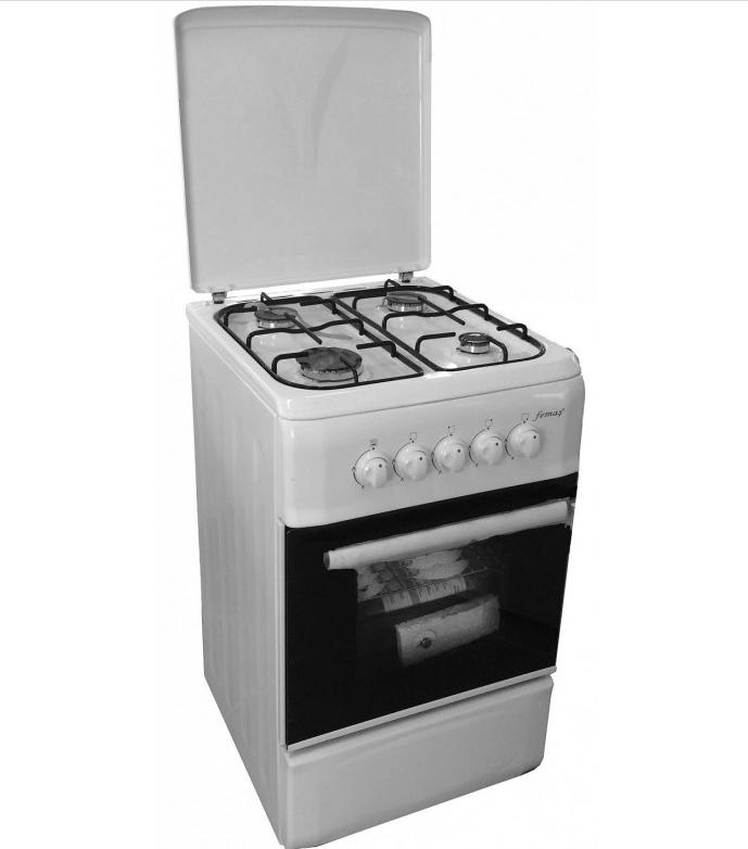 Плита газовая с крышкой Ferre F5N40G1-L белый