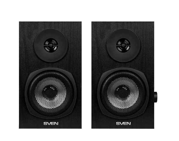 Колонки 2.0 SVEN SPS-575 / 2×3W / USB / дерево / black