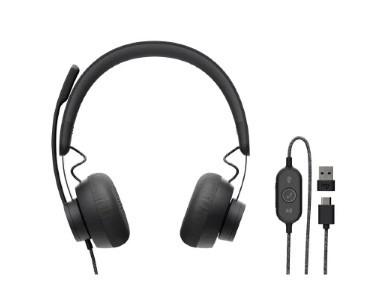 Наушники с микрофоном Logitech Zone Wired Headset Stereo (981-000875)