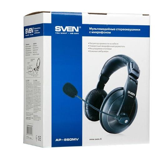 Наушники с микрофоном SVEN AP-860MV