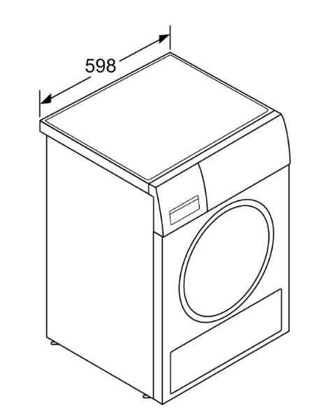 Сушильная машина BOSCH WTH85V0SPL