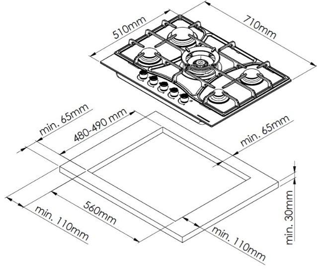 Варочная панель Kuppersberg FS73 ANT