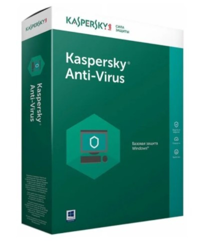 ПО Kaspersky Anti-Virus Russian Edition. 2-Desktop 1 year Base Box KL1167RBBFS/KL1171RBBFS