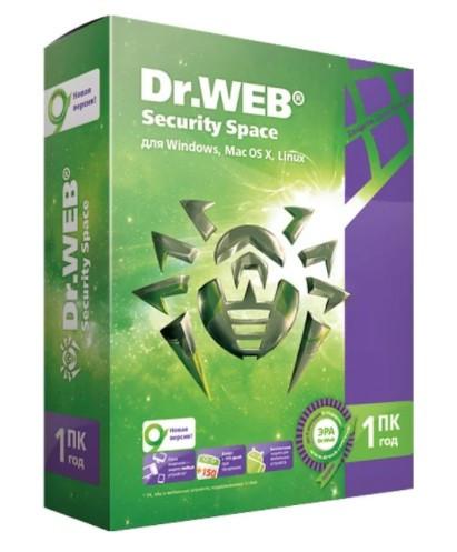 ПО Dr.Web Security Space, картонная упаковка, на 12 месяцев, на 2 ПК AHW-B-12M-2-A2
