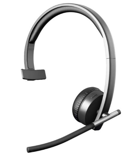 Компьютерная гарнитура Logitech H820e Wireless Headset Mono Black (981-000512)