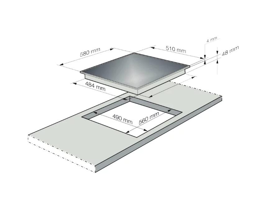 Индукционная варочная панель KORTING HI 64021 BW