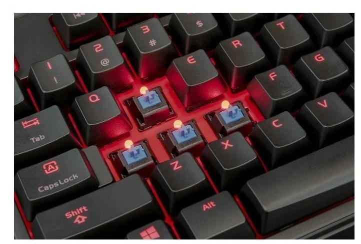 Механическая клавиатура Tt eSPORTS by Thermaltake MEKA PRO Cherry Blue switches, Black, USB (KB-MGP-BLBDRU-01)