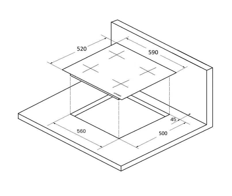 Индукционная варочная панель Kuppersberg ICS 604 GR
