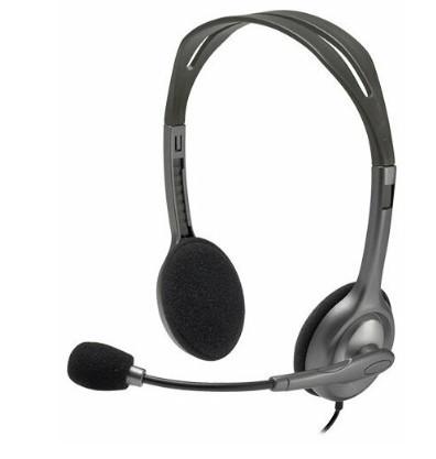 Наушники с микрофоном Logitech H111 Headset Stereo 2xminiJack 981-000593