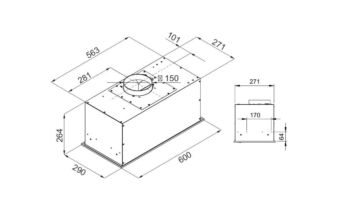 Встраиваемая вытяжка Kuppersberg IBOX 60 X