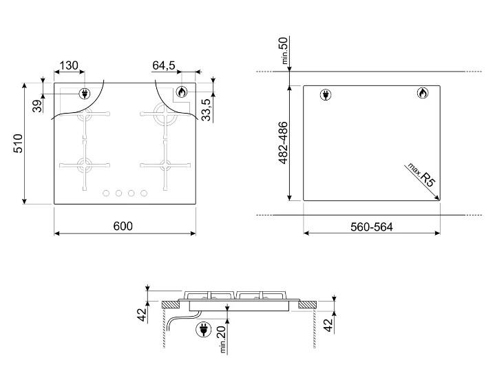 Варочная панель Smeg PV164N2