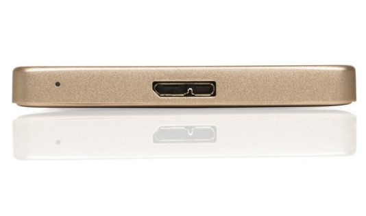 """Внешний жёсткий диск 2000GB Freecom 2, 5"""" (mHDD Mobile Drive Metal slim Gold) USB 3.0"""