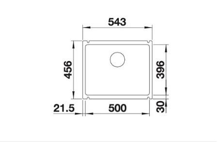 Мойка Blanco Subline 500-U Керамика PuraPlus белый глянцевый InFino®