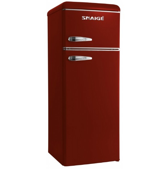 Холодильник Snaige FR24SM-PRDO0E Retro бордо/серебро