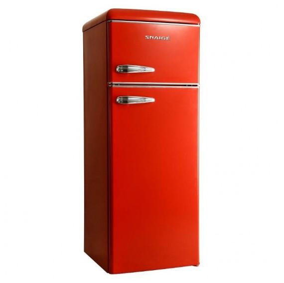 Холодильник Snaige FR24SM-PRR50E Retro красный/серебро