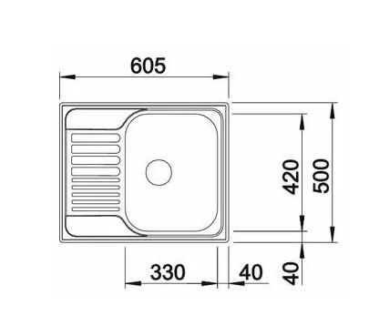 Мойка Blanco Tipo 45S Mini нержавеющая сталь декор