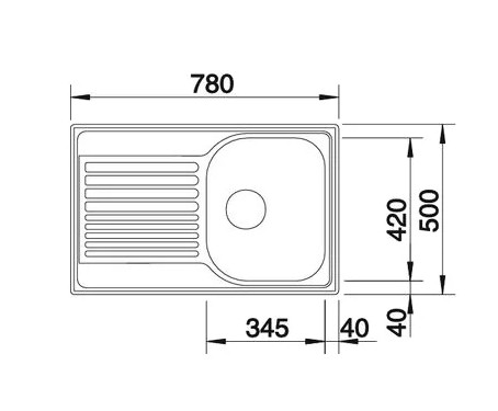 Мойка Blanco Tipo 45S Compact нержавеющая сталь декор