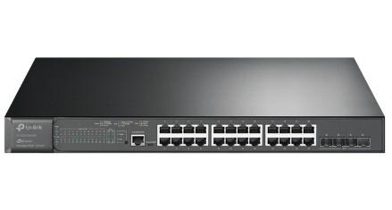 Коммутатор TP-LINK TL-SG3428 24-портовый гигабитный управляемый коммутатор уровня 2+ с 4 SFP-слотами