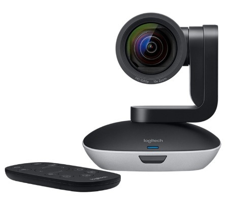 Веб камера Logitech PTZ Pro 2 1080p/30fps, угол обзора 90°, 10-кратное цифровое увеличение (960-001186)