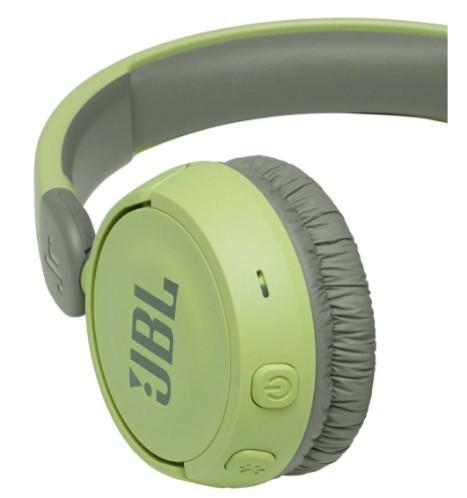 Беспроводные наушники с микрофоном JBL JR310BT Green