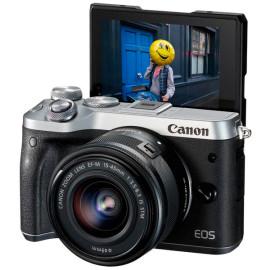 Фотоаппарат Canon EOS M6 + объектив EF-M 15-45mm IS STM Black\silver