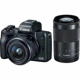 Фотоаппарат Canon EOS M50 kit + EF-M 15-45mm f/3.5–6.3 IS STM + EF-M 55-200mm f/4.5–6.3 IS STM