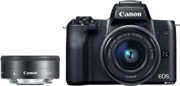 Фотоаппарат Canon EOS M50 + объектив 15-45mm + объектив 22mm