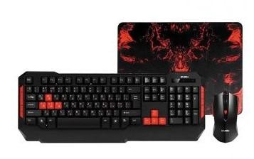 Игровой комплект SVEN Challenge 9000 (GS-9000) Gaming Edition Combo (клавиатура,мышь,коврик)