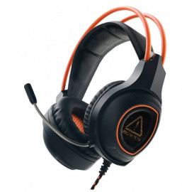 Гарнитура Canyon Gaming headset with 7.1 USB connector, adjustable volume control, orange LED backlight, cable length 2m, Black