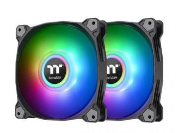 Комплект кулеров для корпуса Thermaltake Pure Duo 12 ARGB Sync Radiator Fan (2-Fan Pack)-Black (CL-F115-PL12SW-A)