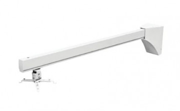 Крепление для проектора Wize настенное для короткофокусных проекторов, кабель-канал, длина штанги 140 см, нагрузка 20 кг, проектор может находиться в любом месте по всей длине штанги, страховочный трос в комплекте
