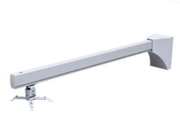 Крепление для проектора Wize настенное для короткофокусных проекторов, кабель-канал, длина штанги 130 см, нагрузка 20 кг, проектор может находиться в любом месте по всей длине штанги, страховочный трос в комплекте