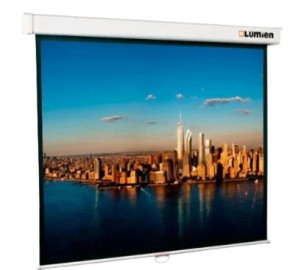 Экран проекционный 180x180 Lumien Master Picture настеный, корпус белый, черная кайма по периметру, возможность потолочного и настенного крепления