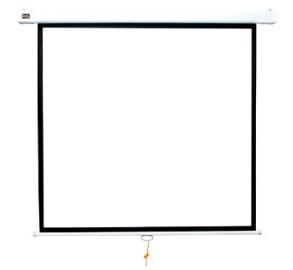 Экран проекционный Sakura Cinema S'OK 1:1 настенно-потолочный, ручной, Matt White, белый корпус SCPSW-180x180