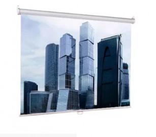 Экран проекционный 203x203 Lumien ECO Picture настеный, корпус белый, черная кайма по периметру, возможность потолочного и настенного крепления