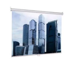 Экран проекционный 220x220 Lumien ECO Picture настеный, корпус белый, черная кайма по периметру, возможность потолочного и настенного крепления