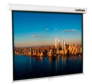Экран проекционный 274x206 Lumien Master Picture настенный, Matter White FiberGlass (белый корпус), черная кайма по периметру, возможность настенного/потолочного крепления