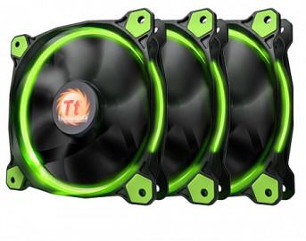 Комплект кулеров для корпуса Thermaltake Riing 12 LED Radiator Fan Green 3 Pack