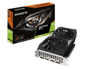 Видеокарта Gigabyte GeForce GTX 1660 6GB GDDR5 (GV-N1660OC-6GD) 1830/8002Hz 3*DP, HDMI