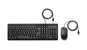 Комплект клавиатура+мышь НР 160 Black <6HD76AA>
